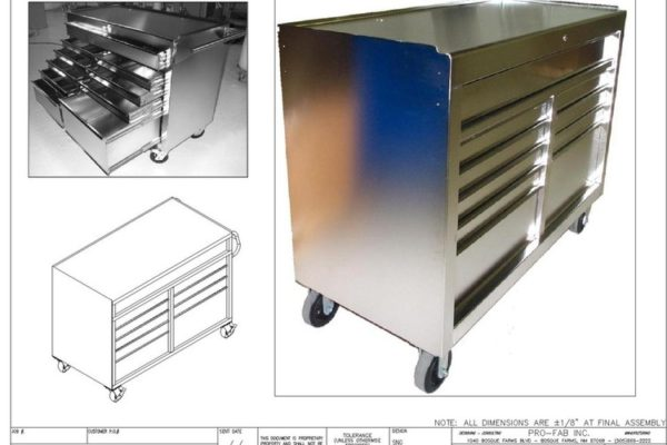 stainless steel rolling cabinet