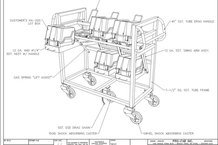 Load Cart for Manufacturing facility