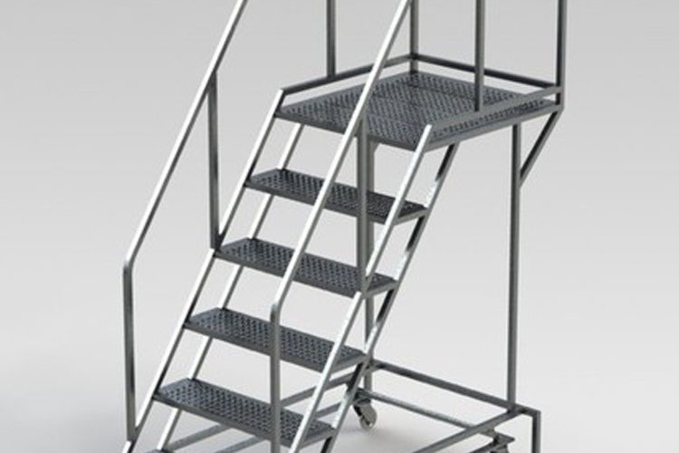 custom-rolling-stair-platform-for-industrial-facilities