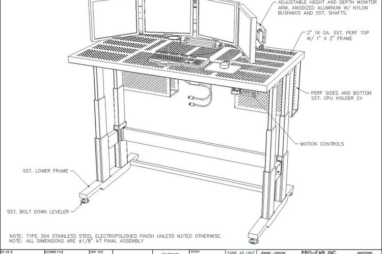 manufacturing custom workstation