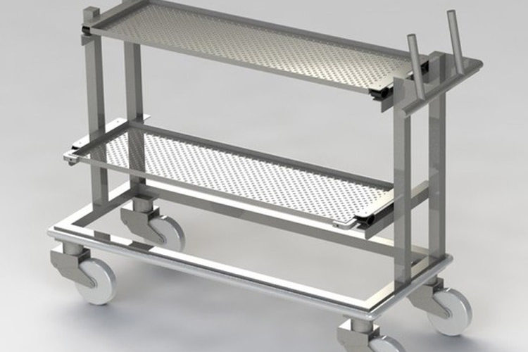 rolling-cart-for-laboratory-and-cleanrooms