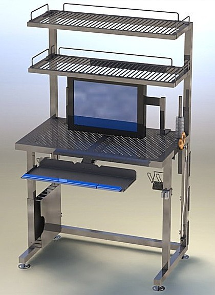 stainless steel cleanroom workstation