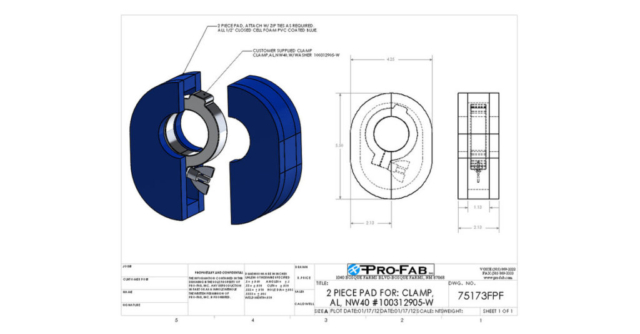 2 piece pad for clamp