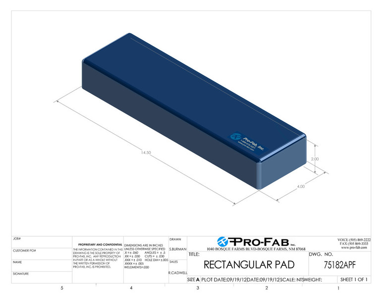 Rectangular Cleanroom Pad