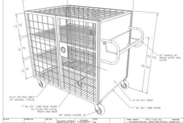 closed stainless steel cleanroom laundry cart